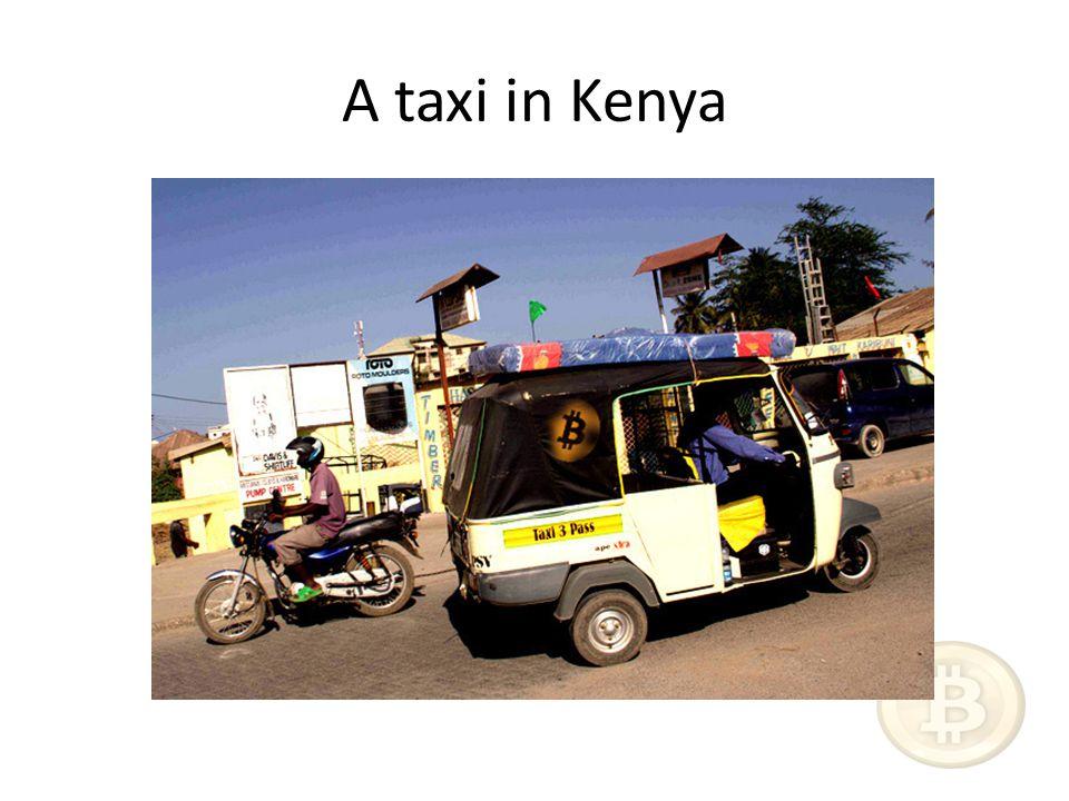 A taxi in Kenya