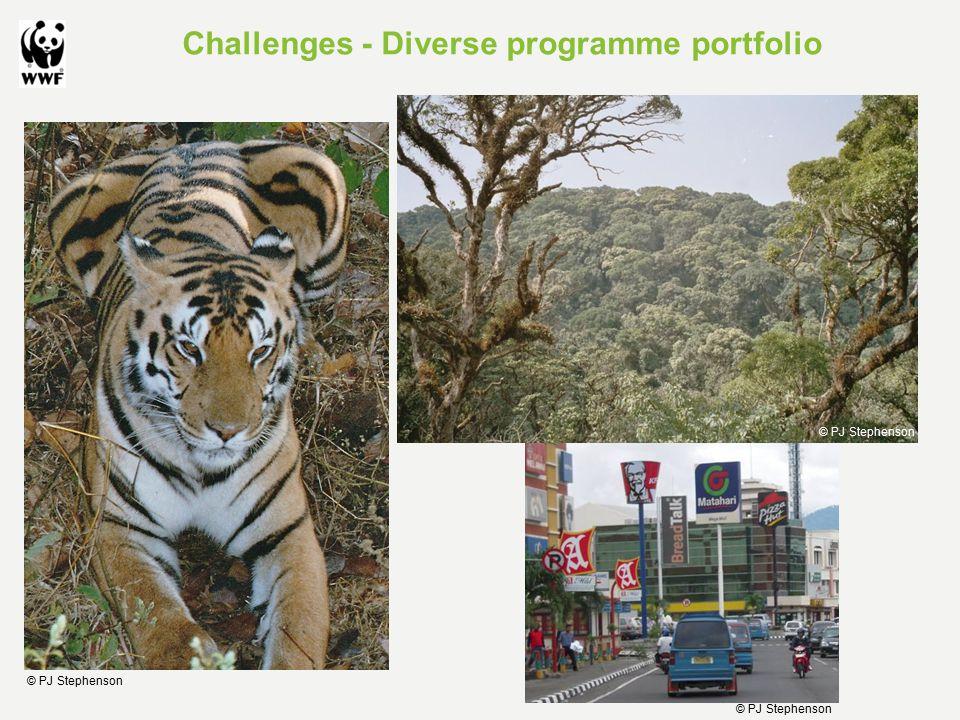 Challenges - Diverse programme portfolio © PJ Stephenson