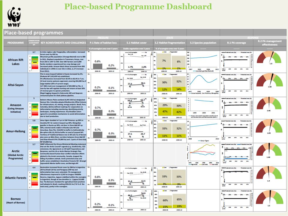 Place-based Programme Dashboard