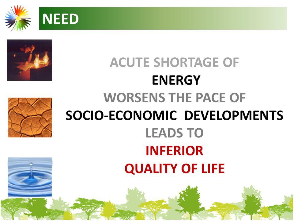 ENERGY DENSITIES OF MAJOR RENEWABLE ENERGY RESOURCE - SOLAR0.15 – 0.8 KW / m2 - WIND 0.15 – 1.0 KW / m2 -TIDAL / INSTREAM 0.15 – 20 KW / m2 -OCEAN 10 – 50 KW / m2
