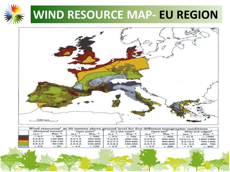 WIND RESOURCE MAP- EU REGION