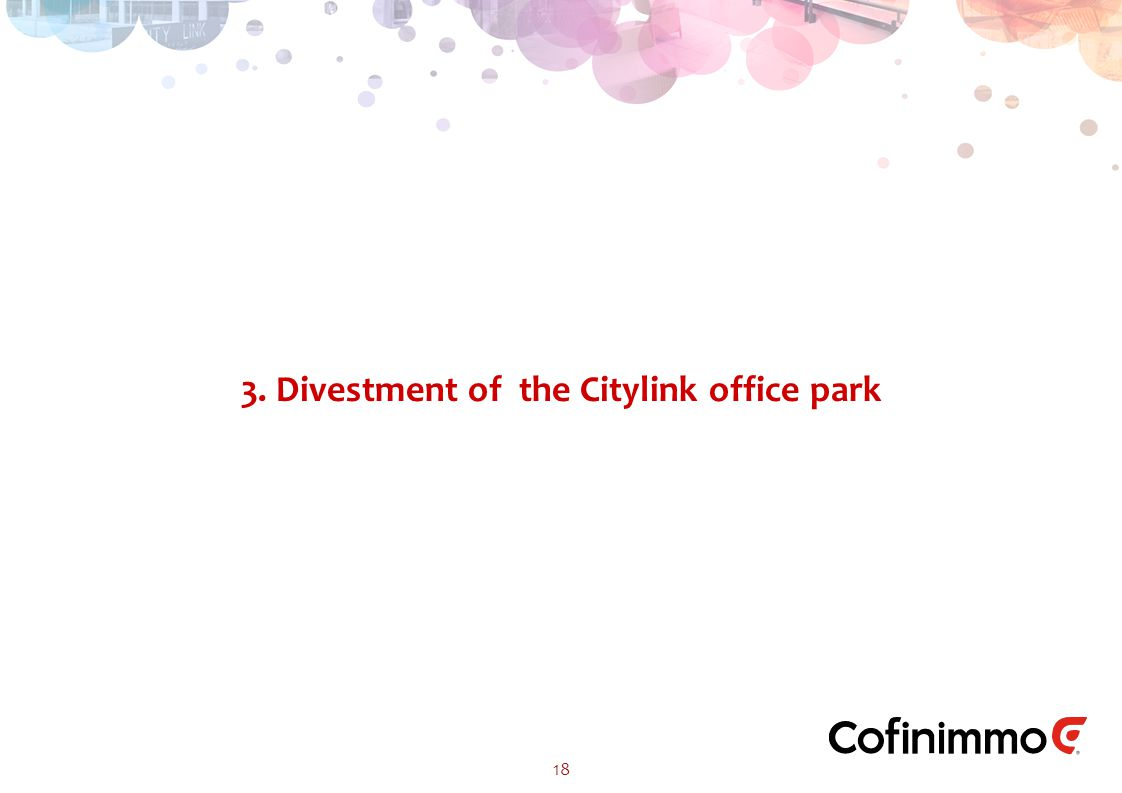 3. Divestment of the Citylink office park 18