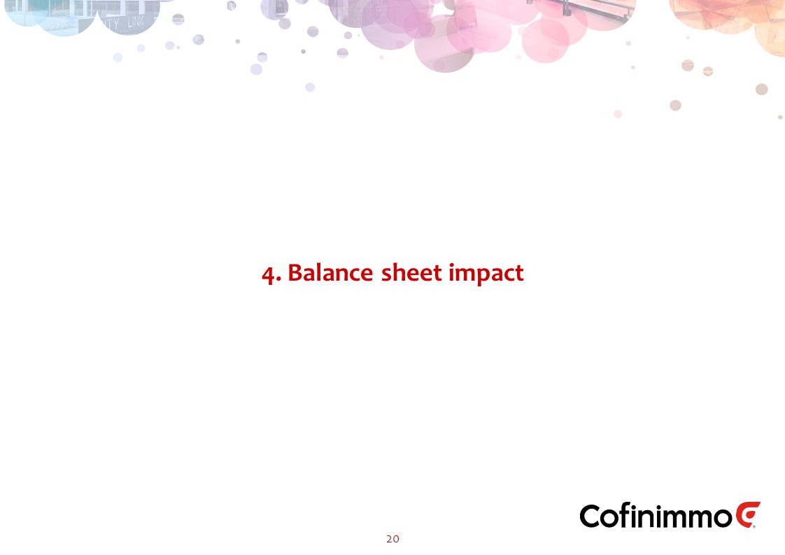 4. Balance sheet impact 20