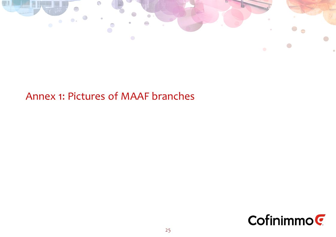 25 Annex 1: Pictures of MAAF branches