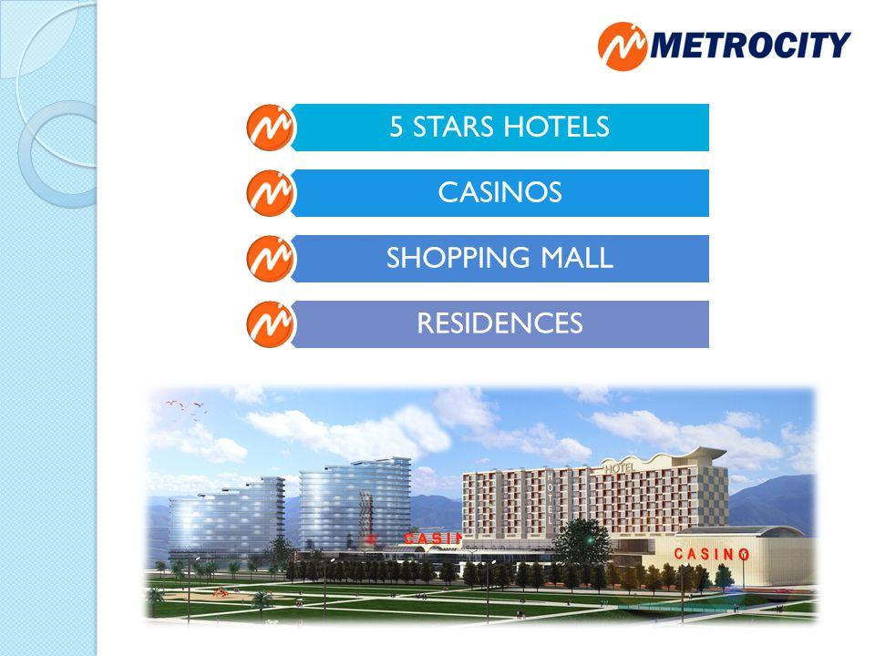 5 STARS HOTELS CASINOS SHOPPING MALL RESIDENCES