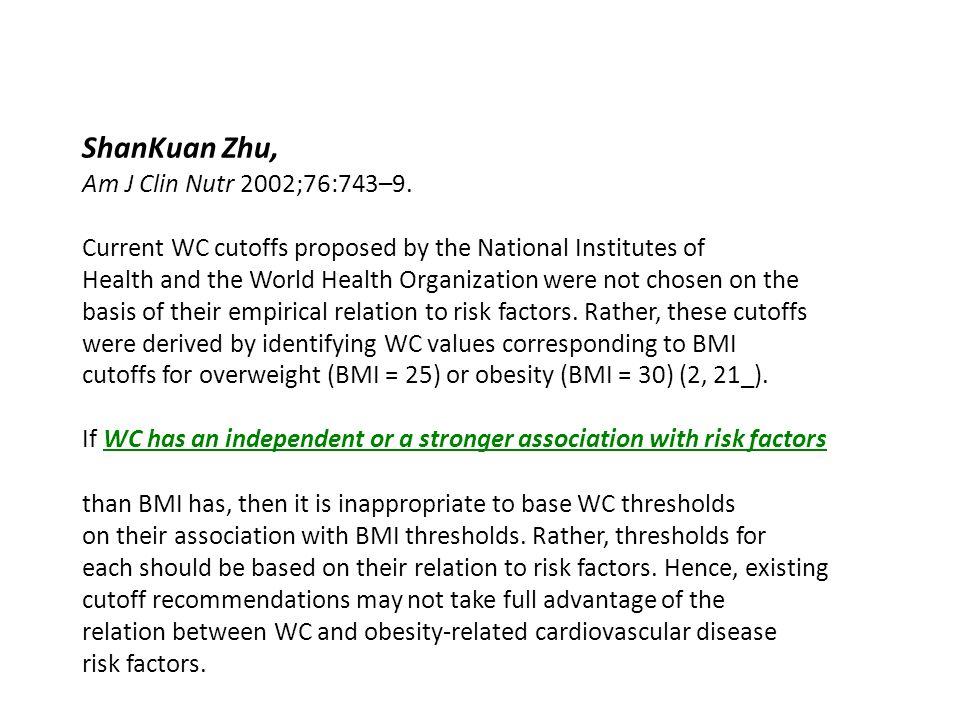 ShanKuan Zhu, Am J Clin Nutr 2002;76:743–9.