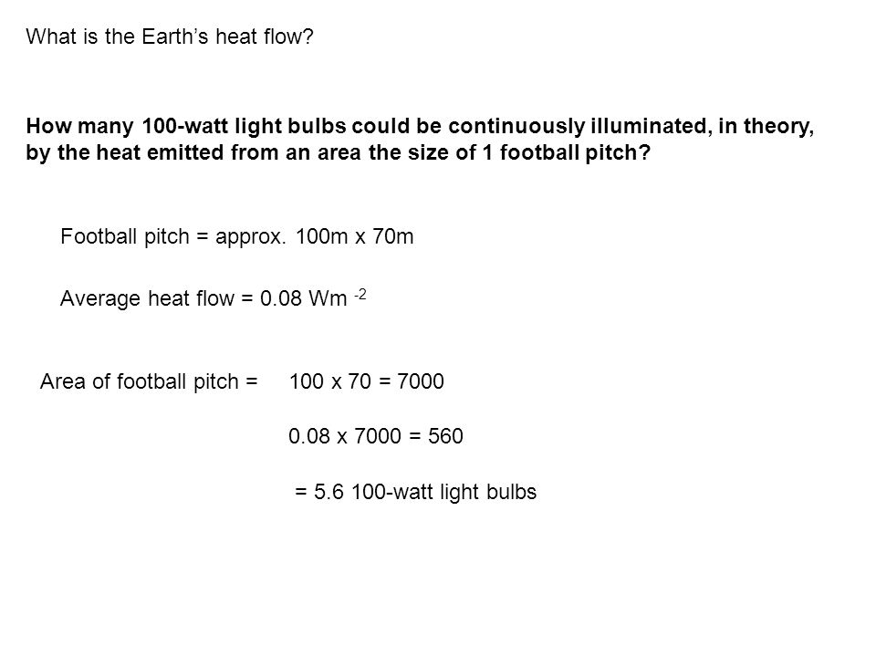 What is the Earth's heat flow.