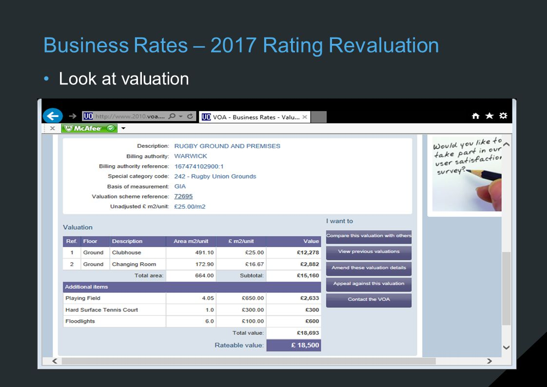 Business Rates – 2017 Rating Revaluation Look at valuation
