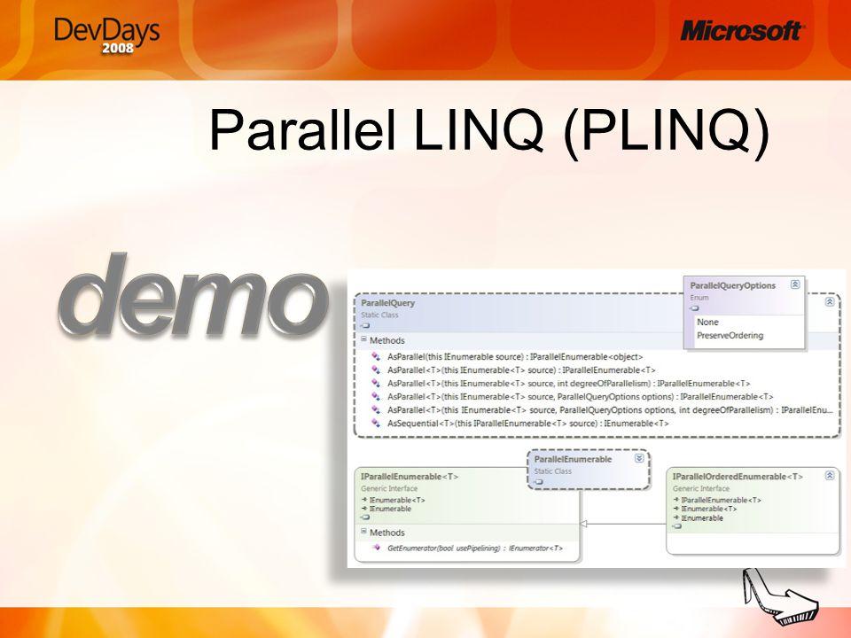 Parallel LINQ (PLINQ)