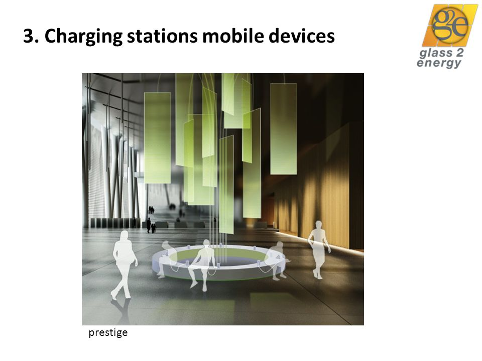 glass2energy 29 3. Charging stations mobile devices prestige
