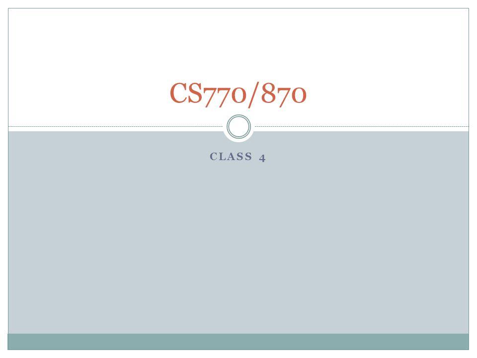 CLASS 4 CS770/870
