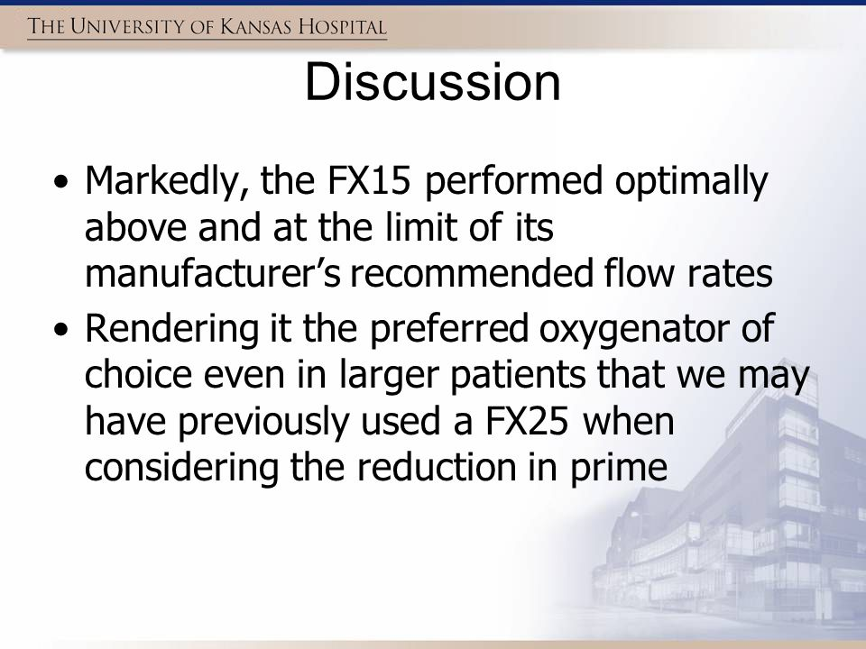 Discussion Markedly, the FX15 performed optimally above and at the limit of its manufacturer's recommended flow rates Rendering it the preferred oxyge