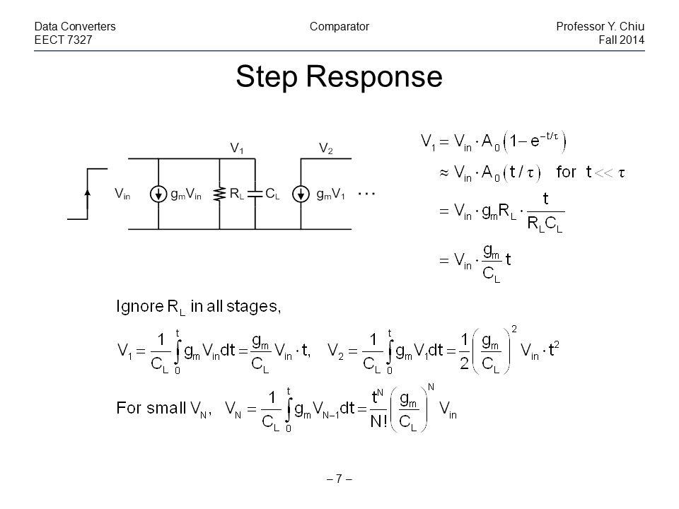 Optimum N – 8 – Data ConvertersComparatorProfessor Y.