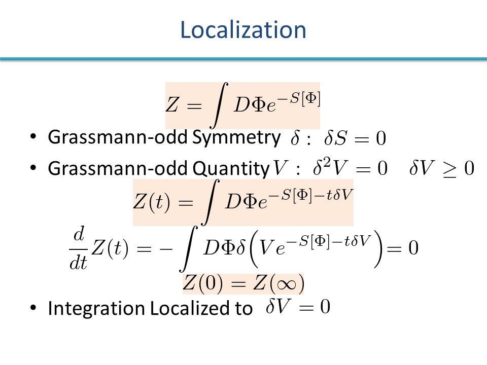 Localization Grassmann-odd Symmetry Grassmann-odd Quantity Integration Localized to