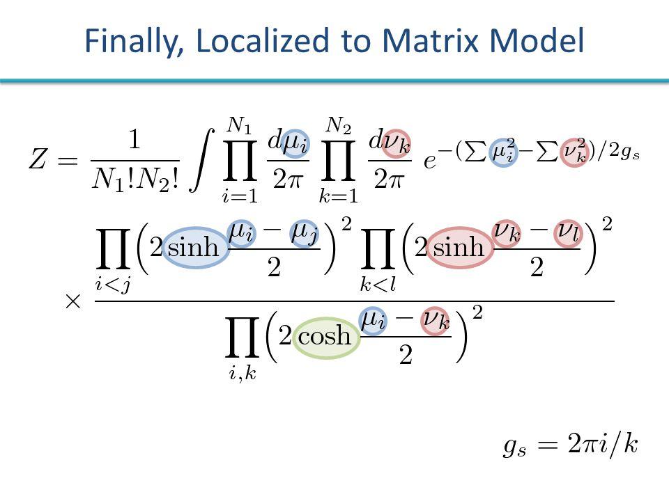 Finally, Localized to Matrix Model