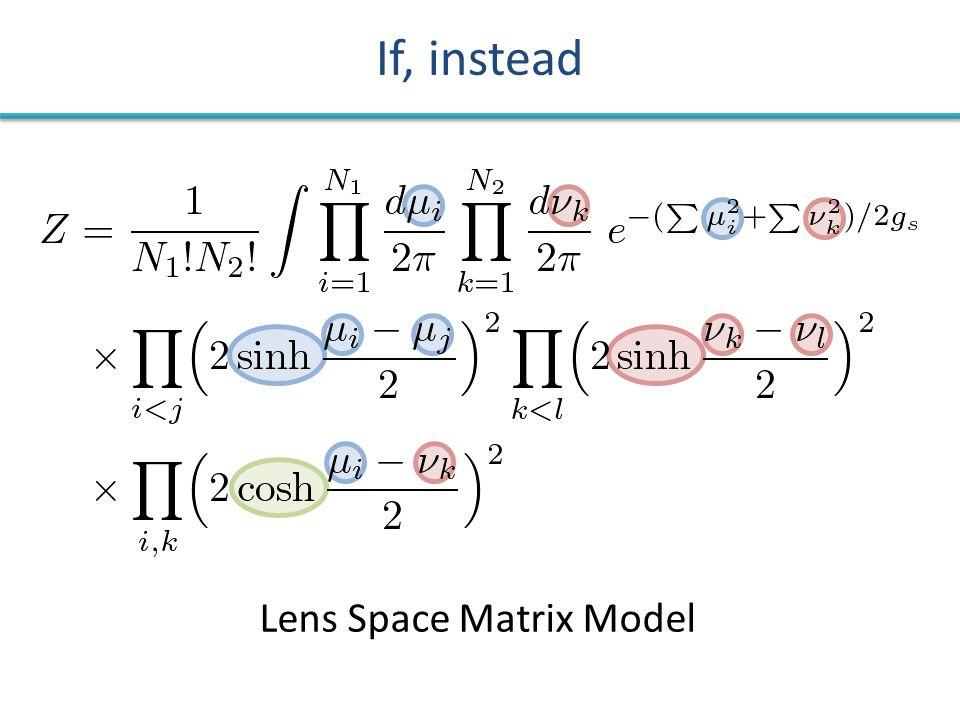 If, instead Lens Space Matrix Model