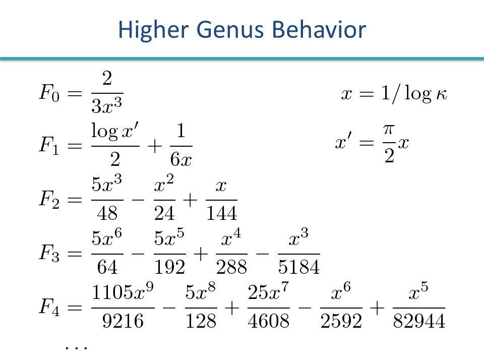 Higher Genus Behavior