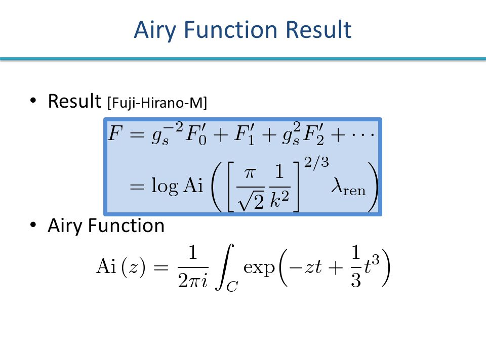 Airy Function Result Result [Fuji-Hirano-M] Airy Function