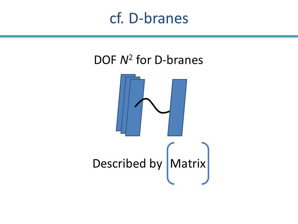 cf. D-branes DOF N 2 for D-branes MatrixDescribed by
