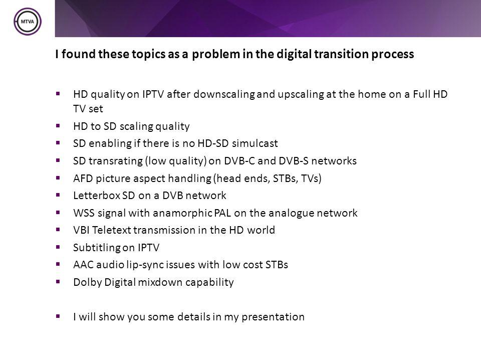 Why HD.