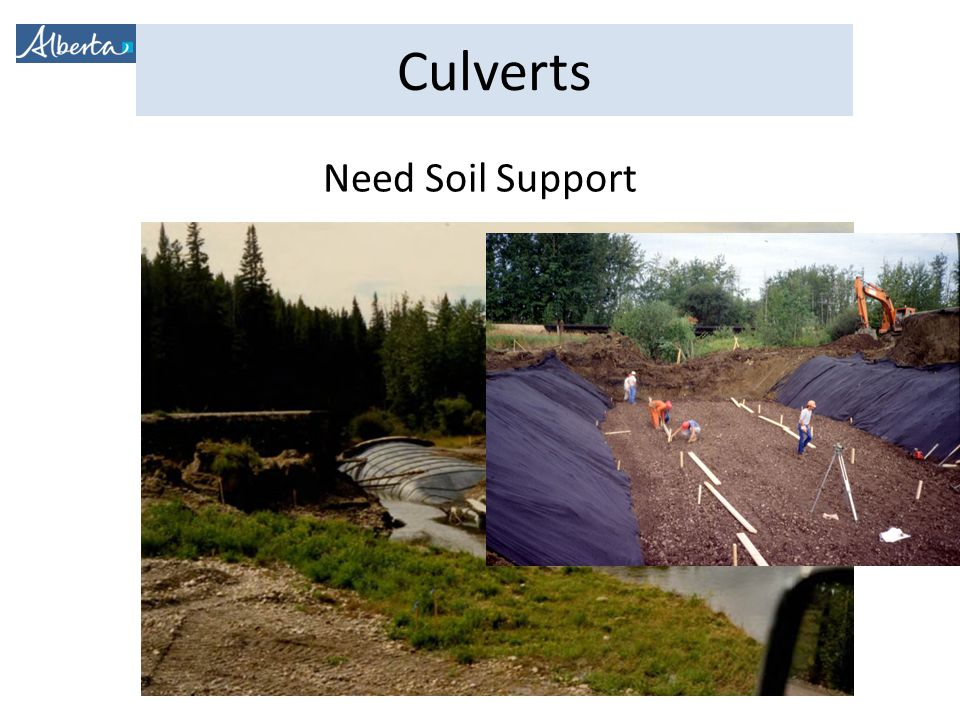 Culverts Need Soil Support