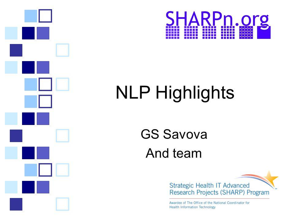 NLP Highlights GS Savova And team