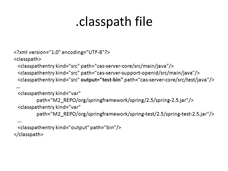 .classpath file … …