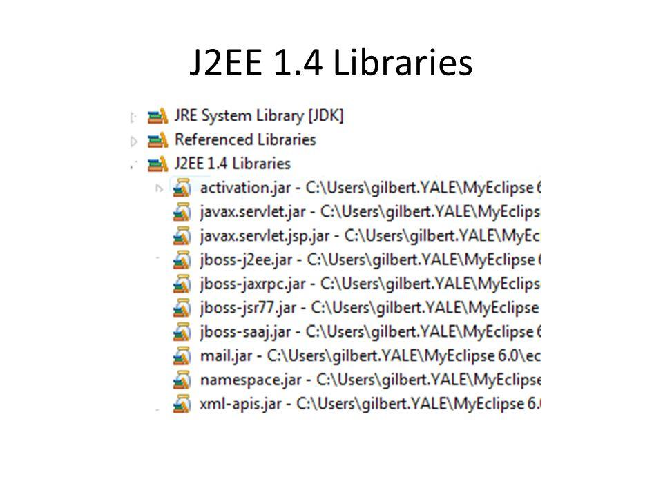 J2EE 1.4 Libraries