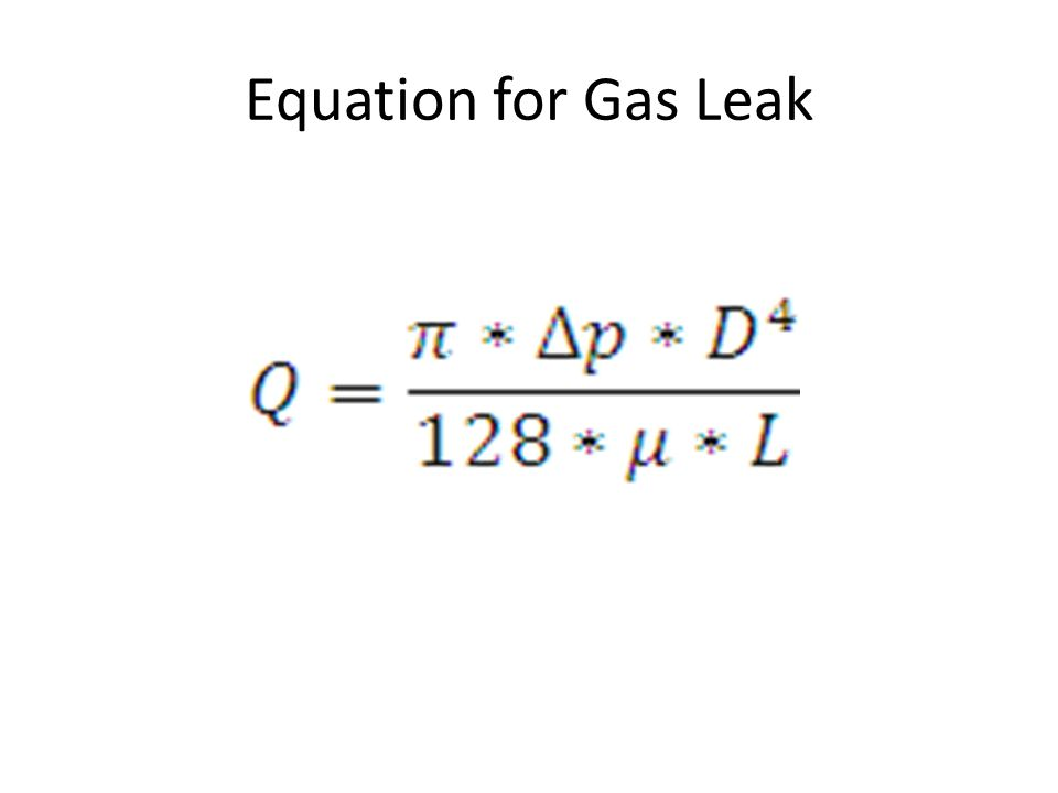 Equation for Gas Leak