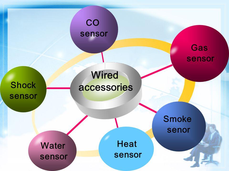 Wired accessories CO sensor Shock sensor Gas sensor Smoke senor Heat sensor Water sensor