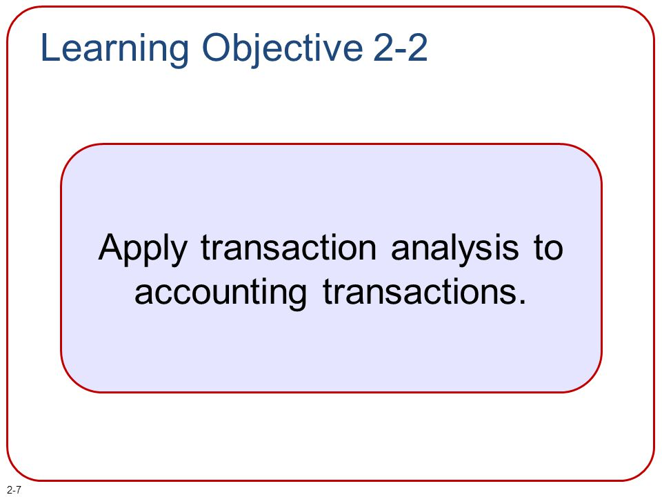 2-8 Study the Accounting Methods 1 Analyze 2 Record 3 Summarize A systematic accounting process is used to capture and report the financial effects of a company's transactions.