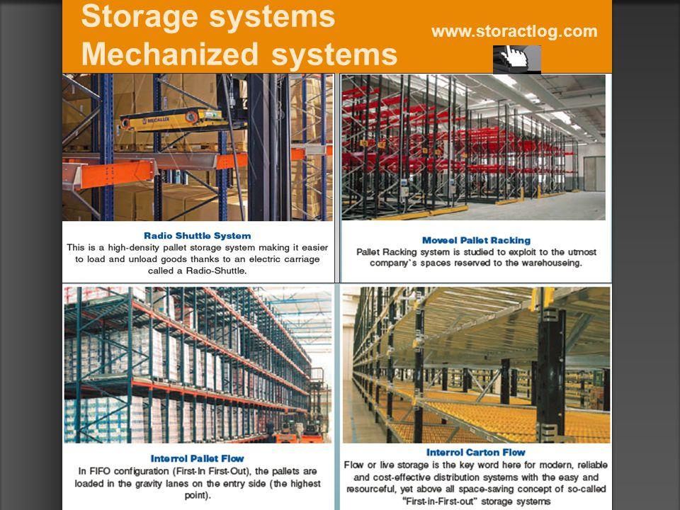 Storage systems Mechanized systems www.storactlog.com