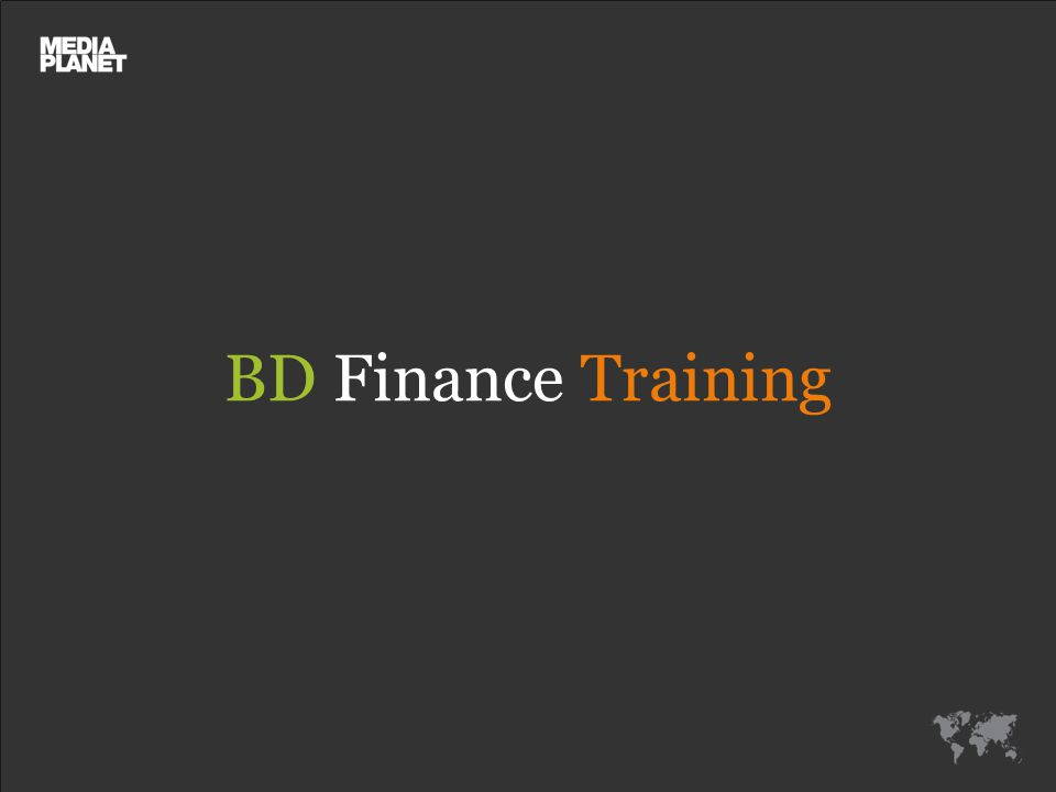 BD Finance Training