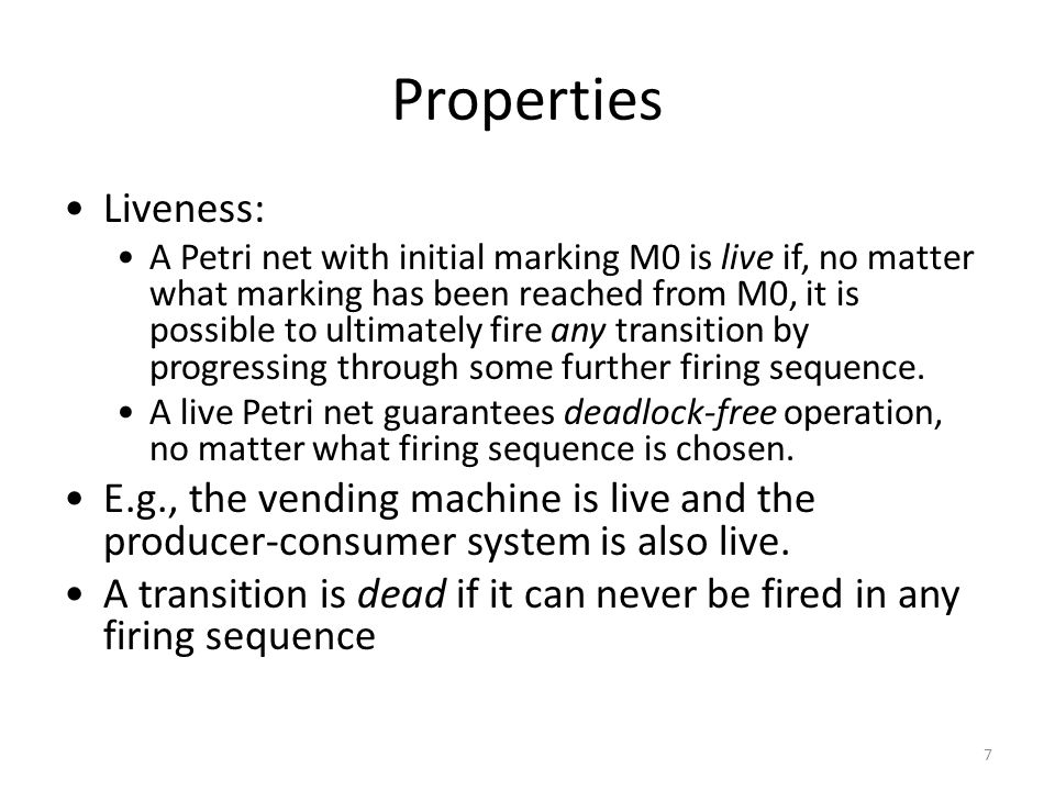 Other Types of Petri Nets Coloured Petri nets Timed Petri nets Object-Oriented Petri nets 17