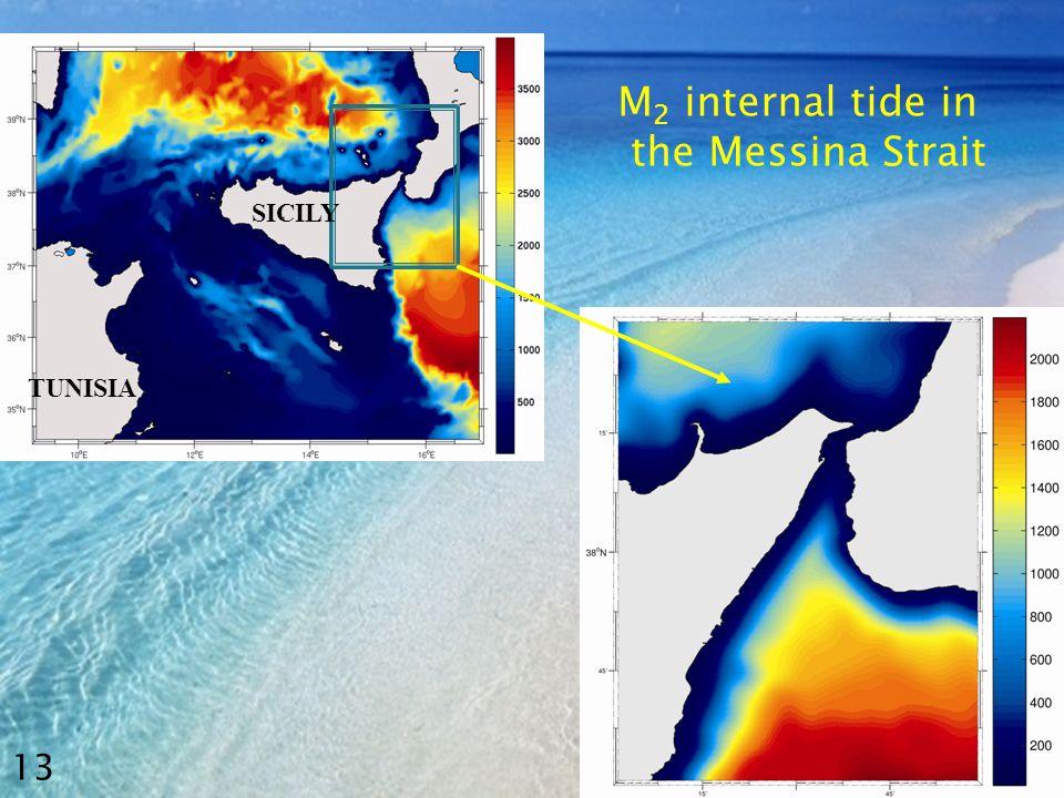 M 2 internal tide in the Messina Strait 13 TUNISIA SICILY