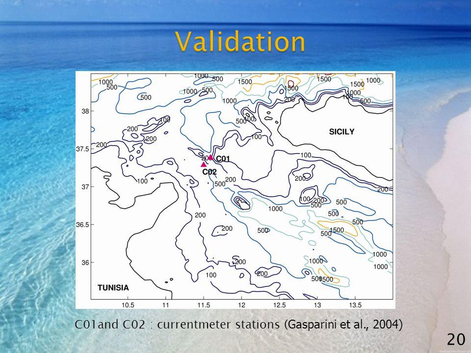 C01and C02 : currentmeter stations ( Gasparini et al., 2004) 20