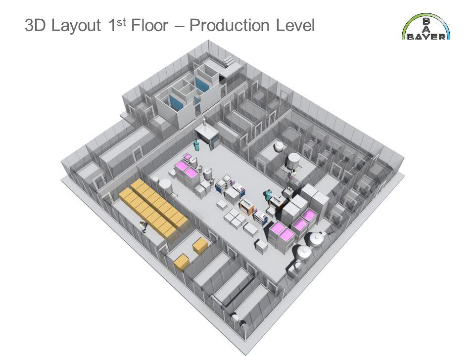 3D Layout 1 st Floor – Production Level BTS 4:3 Template 2010 June 2011Page 14