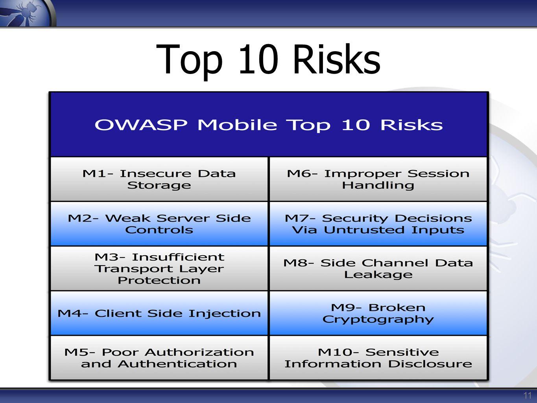 11 Top 10 Risks