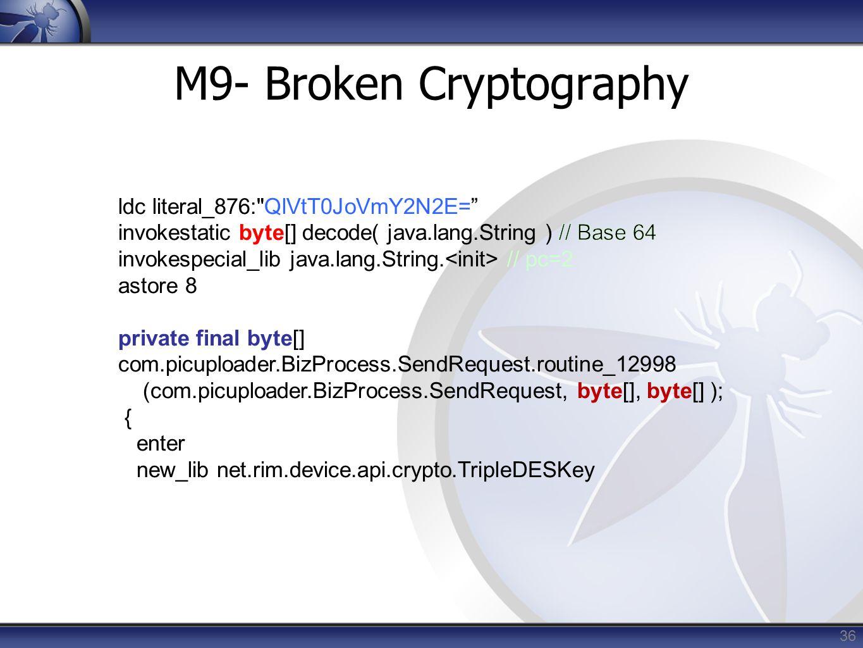36 M9- Broken Cryptography