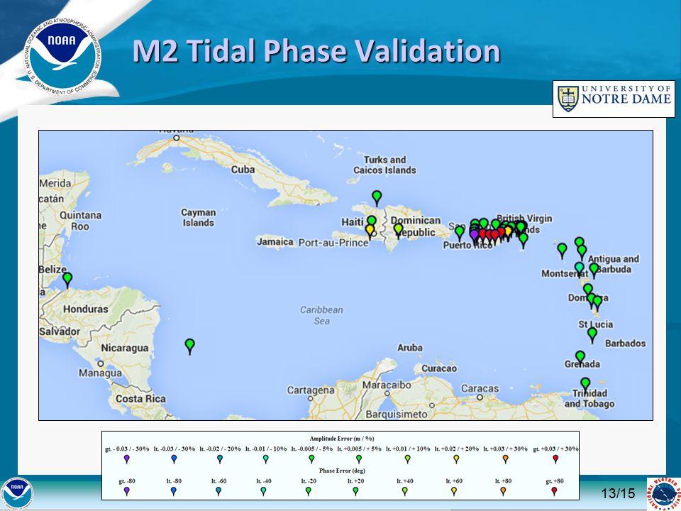 M2 Tidal Phase Validation 13/15