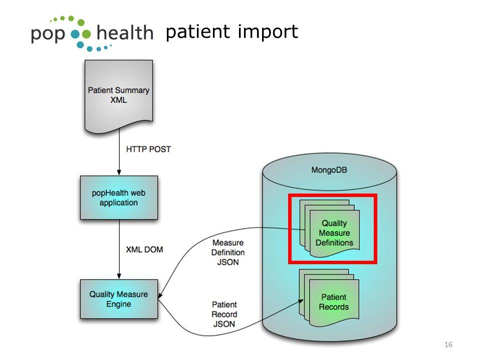 patient import 16