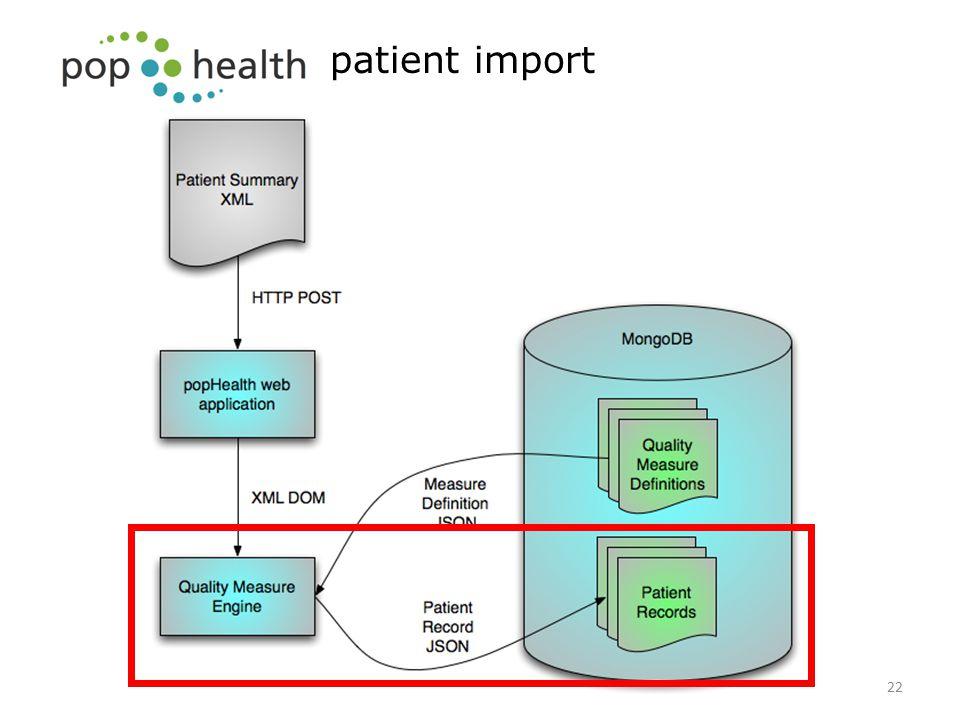 patient import 22