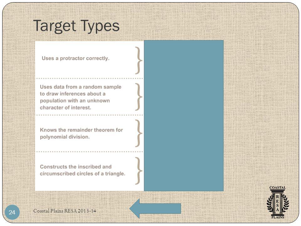 Target Types Coastal Plains RESA 2013-14 24
