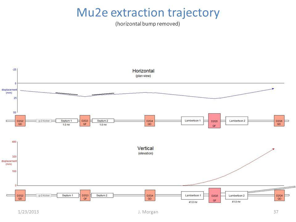 37 Mu2e extraction trajectory (horizontal bump removed) 1/23/2013J. Morgan