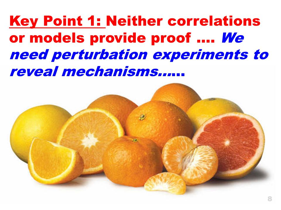 Key Point 1: Neither correlations or models provide proof ….