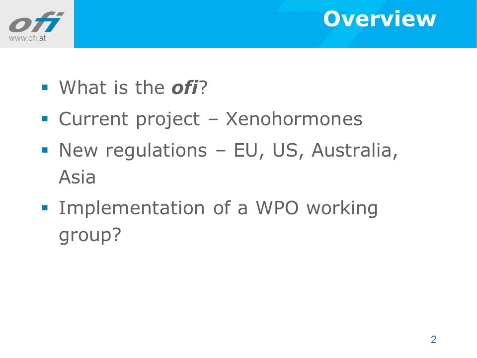 www.ofi.at 2 Overview  What is the ofi.