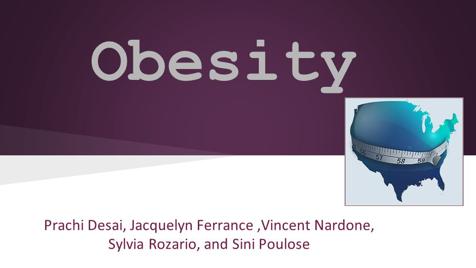 Obesity Trends in USA in Children Approximately 17% (12.5 million) children are obese in USA (NHANES, 20o8).