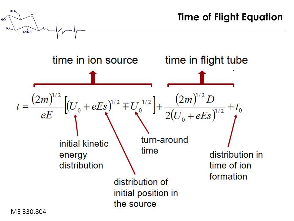 O O HO AcNH Time of Flight Equation ME 330.804