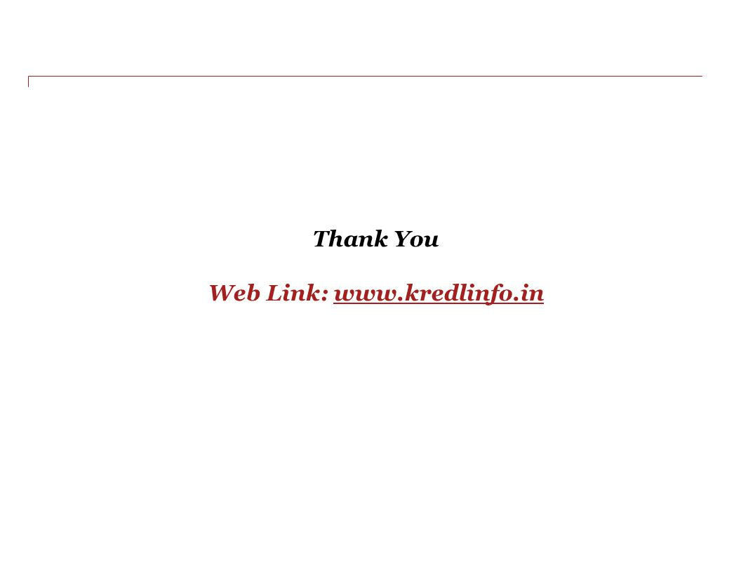 Thank You Web Link: www.kredlinfo.inwww.kredlinfo.in