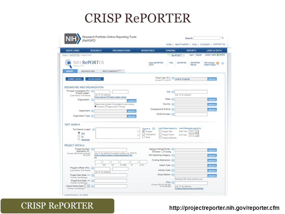 http://projectreporter.nih.gov/reporter.cfm